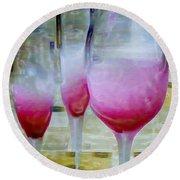Pink Summer Round Beach Towel by Ben and Raisa Gertsberg