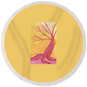 Pink Tree By Jrr Round Beach Towel