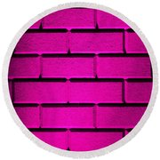 Pink Wall Round Beach Towel
