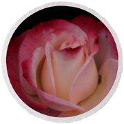 Pink White Rose Round Beach Towel