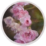 Pink Winter Roses One Round Beach Towel