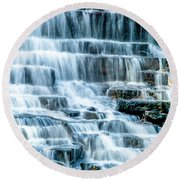 Pinnacle Lake Dam Round Beach Towel