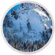 Pinnacle Peak Winter Glory Round Beach Towel