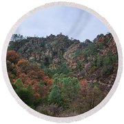 Pinnacles National Park Round Beach Towel