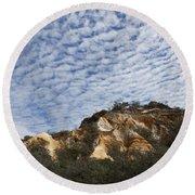 Pinnacles Of Fraser Island Round Beach Towel by Linda Lees