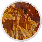 Pinnicles At Sunset Point Bryce Canyon National Park Round Beach Towel