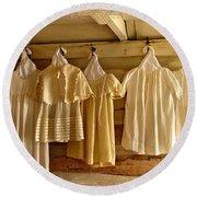 Pioneer Days-child's Dresses Round Beach Towel
