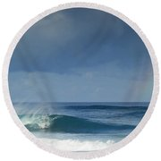 Pipe At The End Of The Rainbow Round Beach Towel