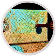 Pipe Box Round Beach Towel