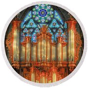 Pipe Organ Round Beach Towel