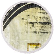 Piped Abstract 4 Round Beach Towel