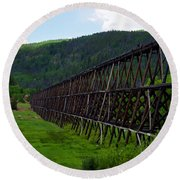Pipeline Trestle Round Beach Towel