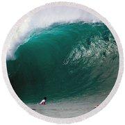 Pipeline Wave Hawaii Round Beach Towel