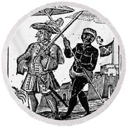 Pirate Henry Every, 1725 Round Beach Towel