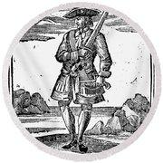 Pirate John Rackam, 1725 Round Beach Towel
