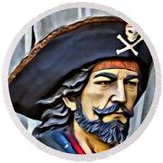 Pirate Man Round Beach Towel