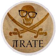 Pirate Math Nerd Humor Poster Art Round Beach Towel