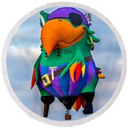 Pirate Parrot Pegleg Pete Round Beach Towel