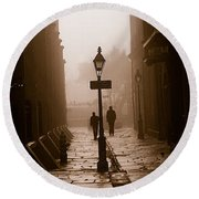 Pirate's Alley  New Orleans Round Beach Towel