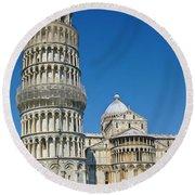 Pisa Italy Round Beach Towel