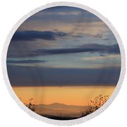 Pisgah Sunrise Round Beach Towel