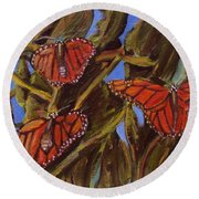 Pismo Monarchs Round Beach Towel