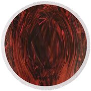 Pit Of Fire Round Beach Towel