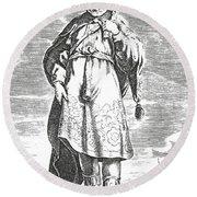 Pittacus Of Mytilene, Sage Of Greece Round Beach Towel
