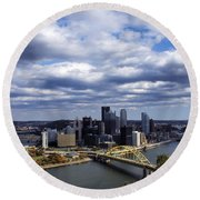 Pittsburgh After The Storm Round Beach Towel