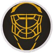 Pittsburgh Penguins Goalie Mask Round Beach Towel