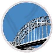 Pittsburgh Skyline 16th St. Bridge - Slate Round Beach Towel