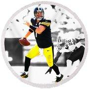 Pittsburgh Steelers Ben Roethlisberger Round Beach Towel