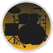 Pittsburgh Steelers Drum Set Round Beach Towel