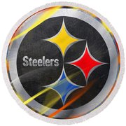 Pittsburgh Steelers Football Round Beach Towel