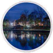 Pittsford On The Erie Canal Round Beach Towel
