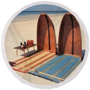 Pixie Collapsible Boat On The Beach Round Beach Towel
