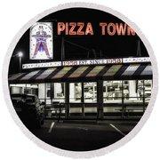 Pizza Town Round Beach Towel