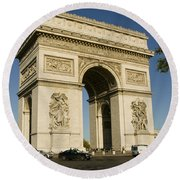 Place Charles De Gaulle Round Beach Towel