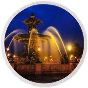 Place De La Concorde Round Beach Towel