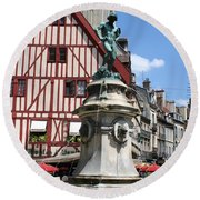 Place Francois Rude - Dijon Round Beach Towel