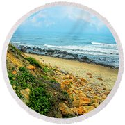 Place To Remember Round Beach Towel