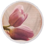 Places In Our Hearts - Vintage Art By Jordan Blackstone Round Beach Towel