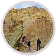 Places To Climb In Golden Canyon In Death Valley National Park-california Round Beach Towel