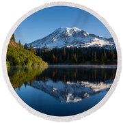 Placid Reflection Round Beach Towel