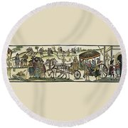 Plague Of London Round Beach Towel