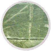 Plains Of Nazca - Spider Round Beach Towel