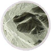 Plains Of Nazca - The Astronaut Round Beach Towel