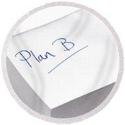 plan B Round Beach Towel