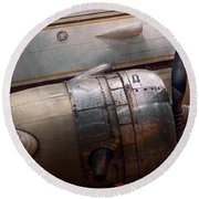 Plane - A Little Rough Around The Edges Round Beach Towel by Mike Savad