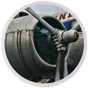 Plane Check Your Engine Round Beach Towel
